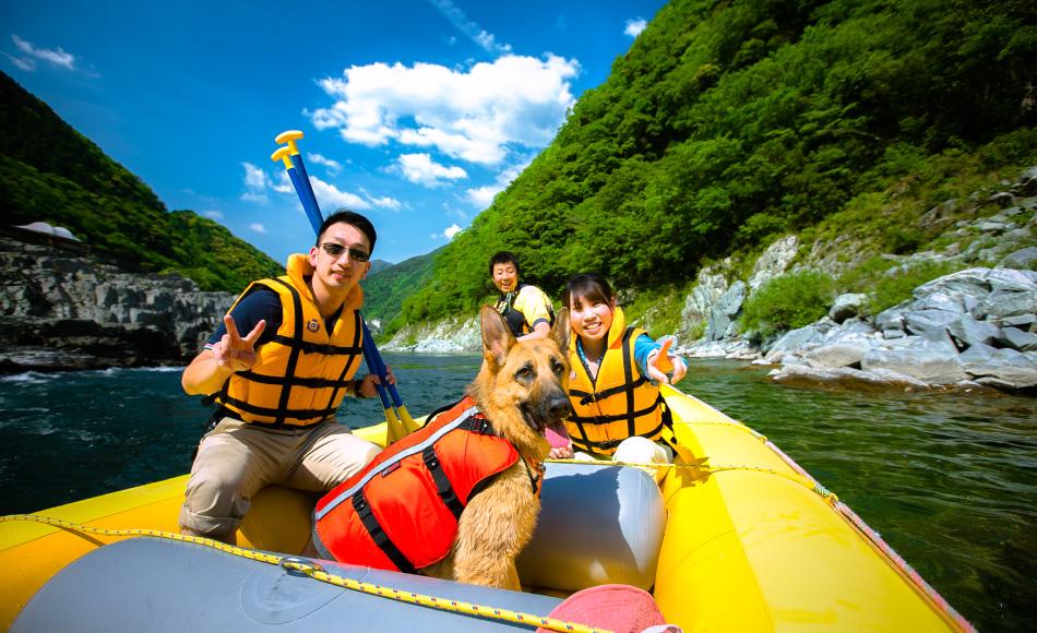 吉野川でラフトボートに乗ってみよう!!